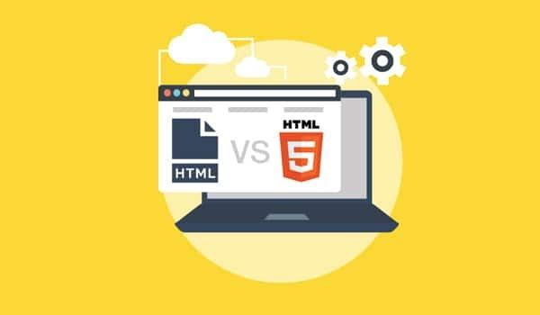Sự khác biệt giữa HTML và HTML5