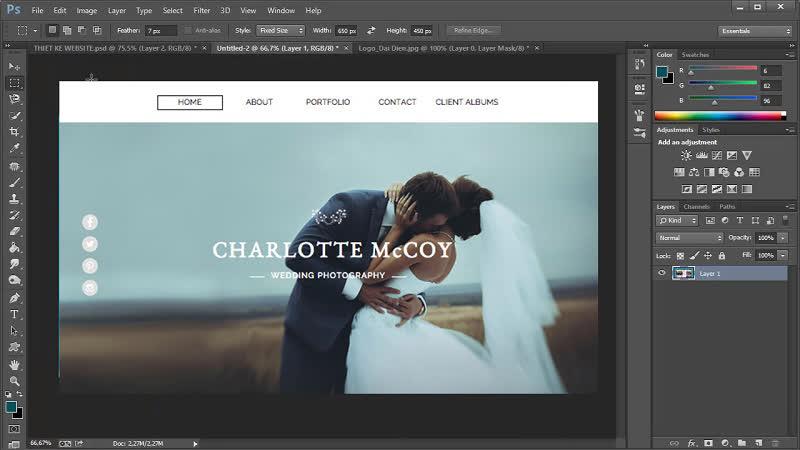 thiết kế web bằng photoshop chuyên nghiệp
