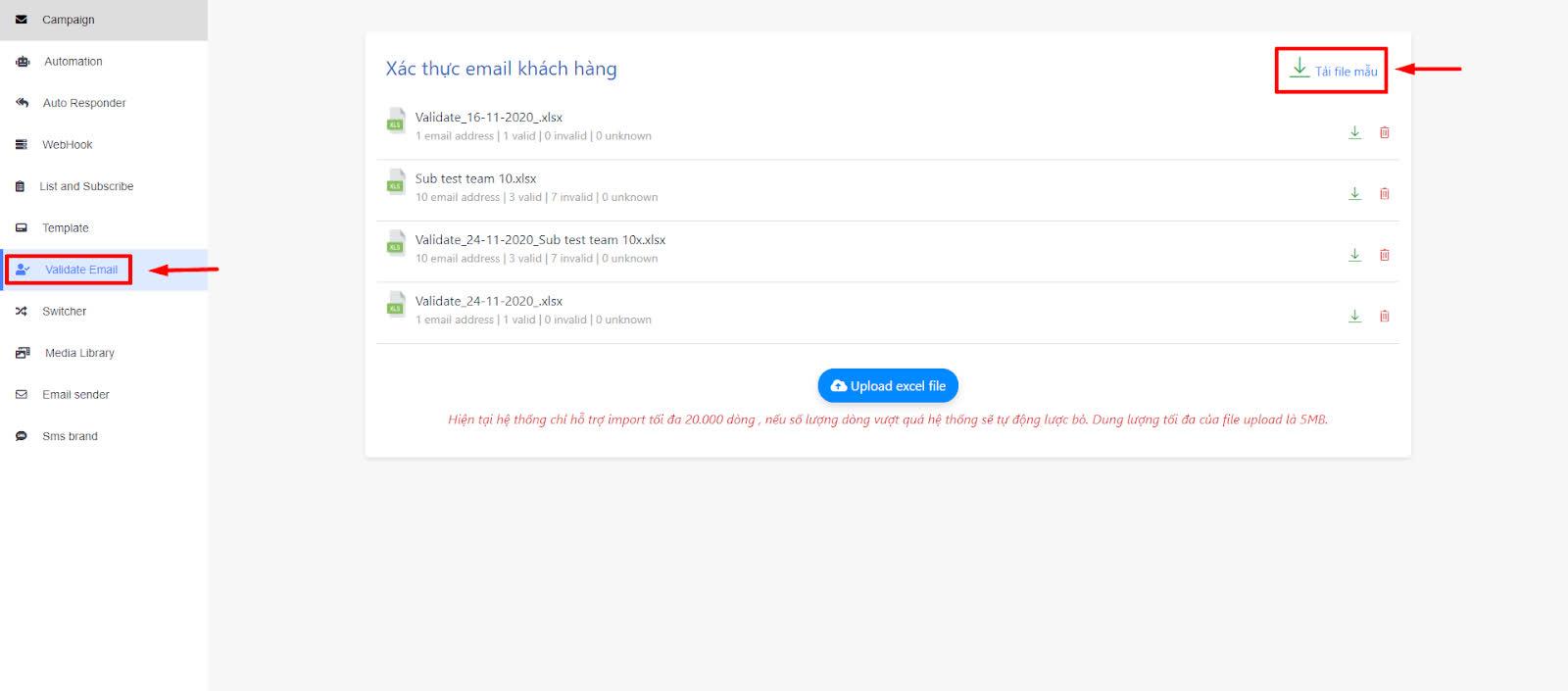 loại bớt các email rác trước khi gửi cho khách hàng bảo hiểm