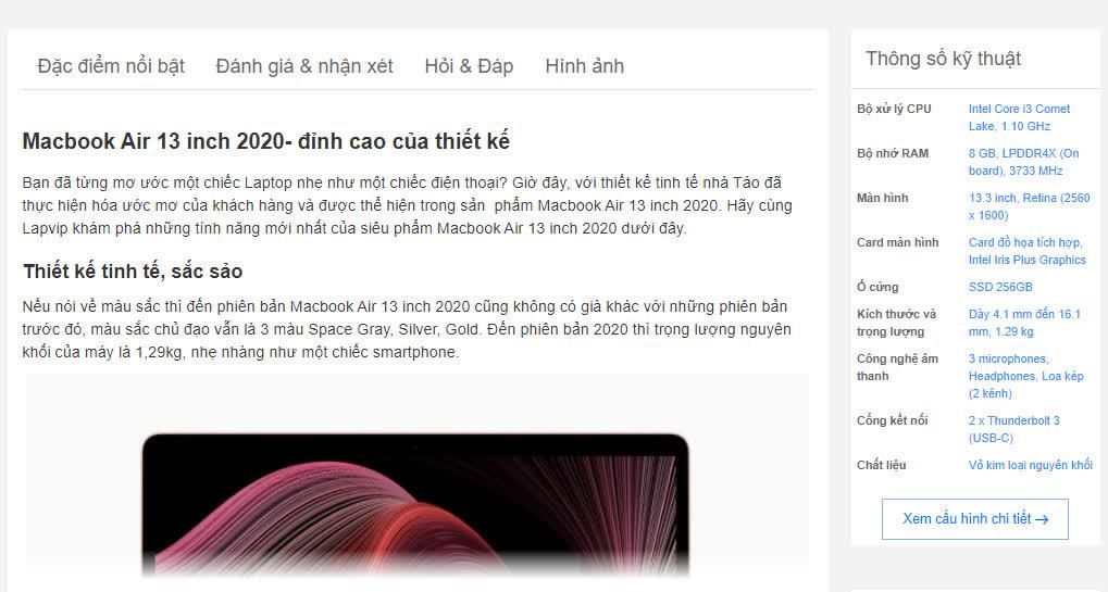 Website cho chuỗi cửa hàng bán Laptop, phụ kiện máy tính cần thiết kế như thế nào?