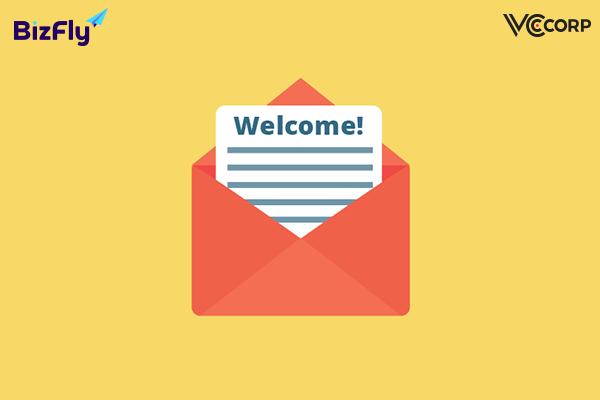 mẫu email marketing chào mừng