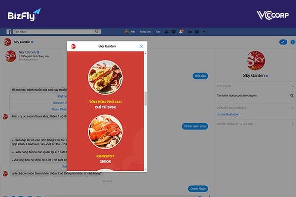 Bizfly Nhà hàng được thiết kế dành riêng cho khối nhà hàng- ảnh minh họa