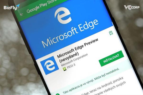 Trình duyệt web nổi tiếng Microsoft Edge