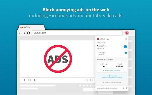 Sử dụng tiện ích mở rộng AdBlock