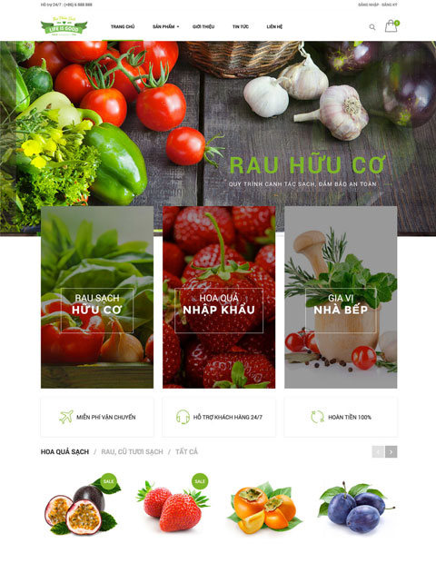 Mẫu thiết kế website nhà hàng chuyên nghiệp Life Is Good