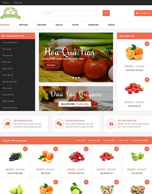 Mẫu thiết kế website nhà hàng Sumelia