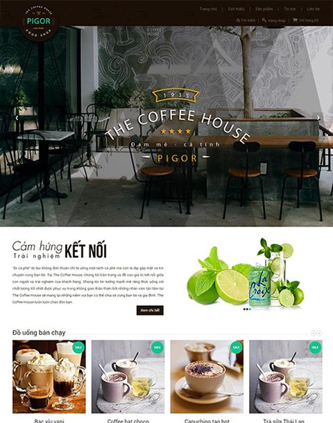 Mẫu thiết kế website nhà hàng The Coffee house