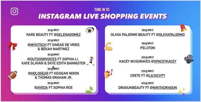 """Instagram đang tìm cách đẩy mạnh hơn nữa hoạt động thương mại với việc ra mắt sự kiện """"10 ngày mua sắm trực tiếp"""" (10 days of Live Shopping)."""