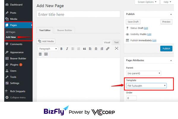 tạo landing page wordpress với Plugin Beaver Builder3