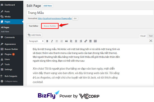 tạo landing page wordpress với Plugin Beaver Builder4