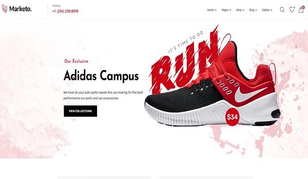 Mẫu giao diện thiết kế website bán hàng online miễn phí