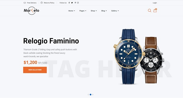 Mẫu thiết kế website bán hàng online