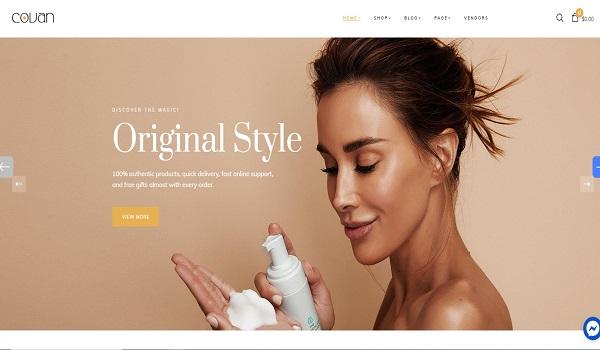 Mẫu giao diện thiết kế website bán hàng online