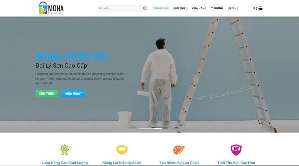Một số mẫu thiết kế website bán sơn nổi bật và đẹp mắt