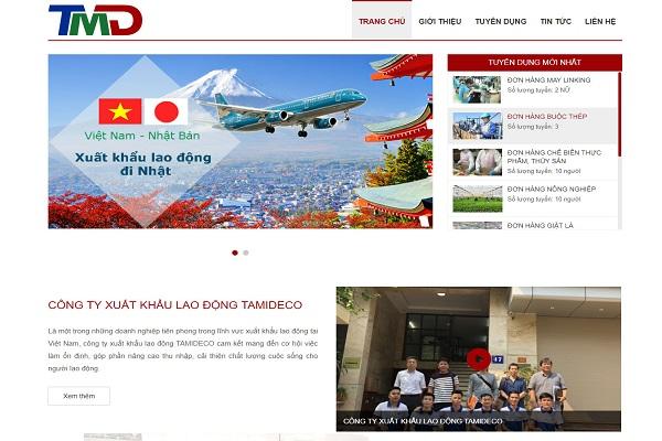 Một số Mẫu thiết kế website xuất khẩu lao động