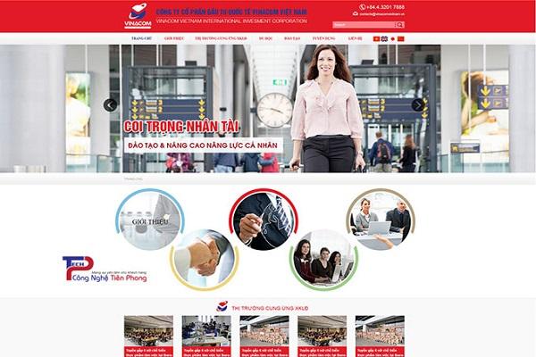 Mẫu thiết kế website xuất khẩu lao động ấn tượng
