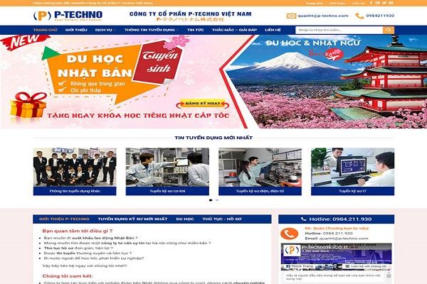 Mẫu thiết kế website xuất khẩu lao động