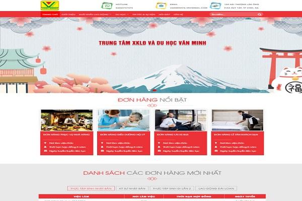 Mẫu thiết kế website xuất khẩu lao động nổi bật