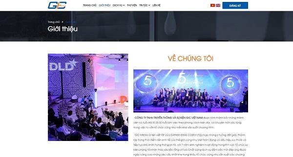 Các mẫu thiết kế website công ty truyền thông, sự kiện