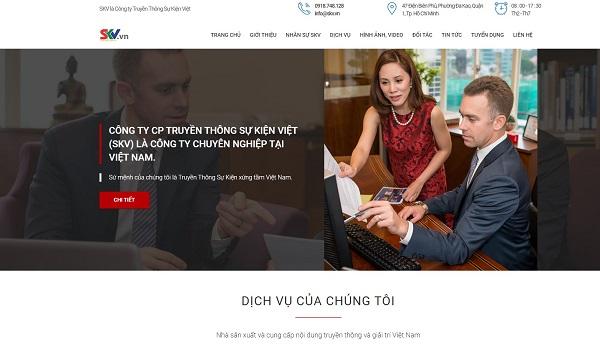 mẫu thiết kế website công ty truyền thông, quảng cáo ấn tượng