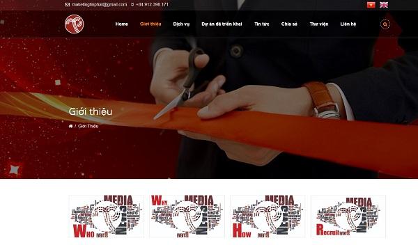mẫu thiết kế website công ty truyền thông, quảng cáo