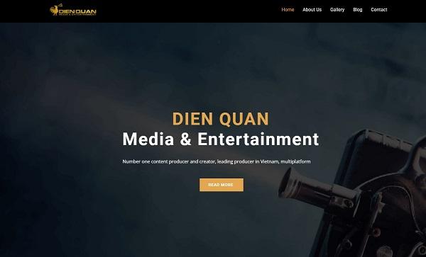 mẫu thiết kế website công ty truyền thông, sự kiện nổi bật