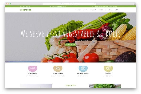 mẫu thiết kế website thực phẩm sạch, đẹp mắt, ấn tượng
