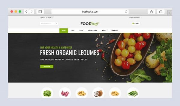 mẫu thiết kế website thực phẩm sạch online