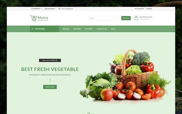 mẫu thiết kế website thực phẩm sạch
