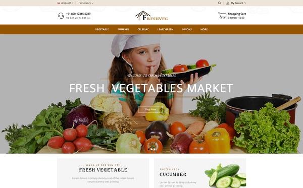 mẫu thiết kế website thực phẩm sạch, rau củ
