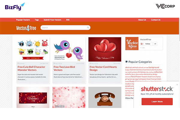 Download free website template at Vector4free