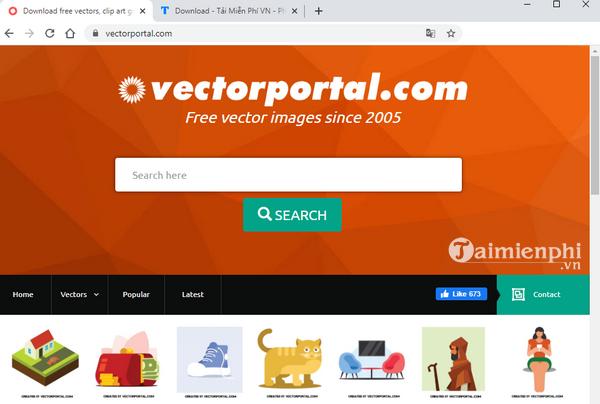 Download the free website template at Vectorportal.com