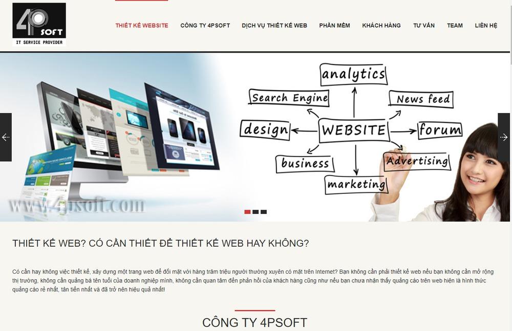 thiết kế website tại Vũng Tàu nổi tiếng nhất