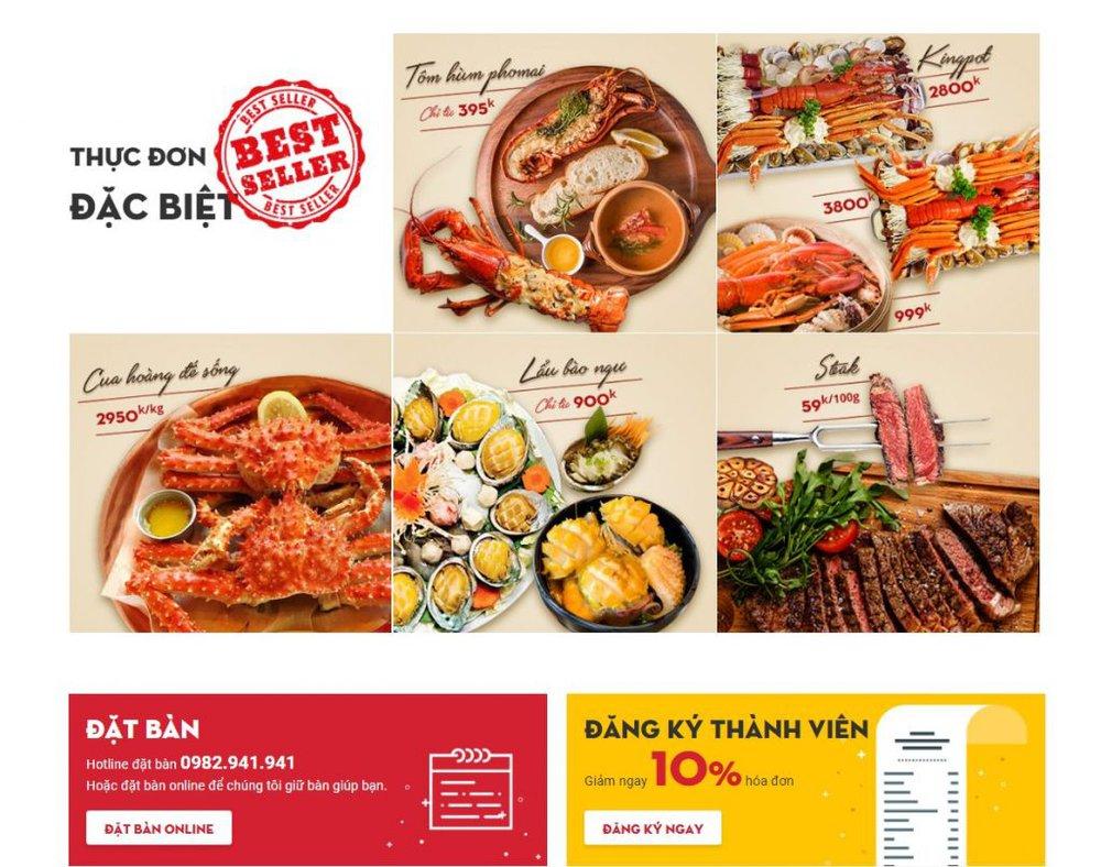 Lợi ích khi thiết kế website nhà hàng tại Bizfly Website