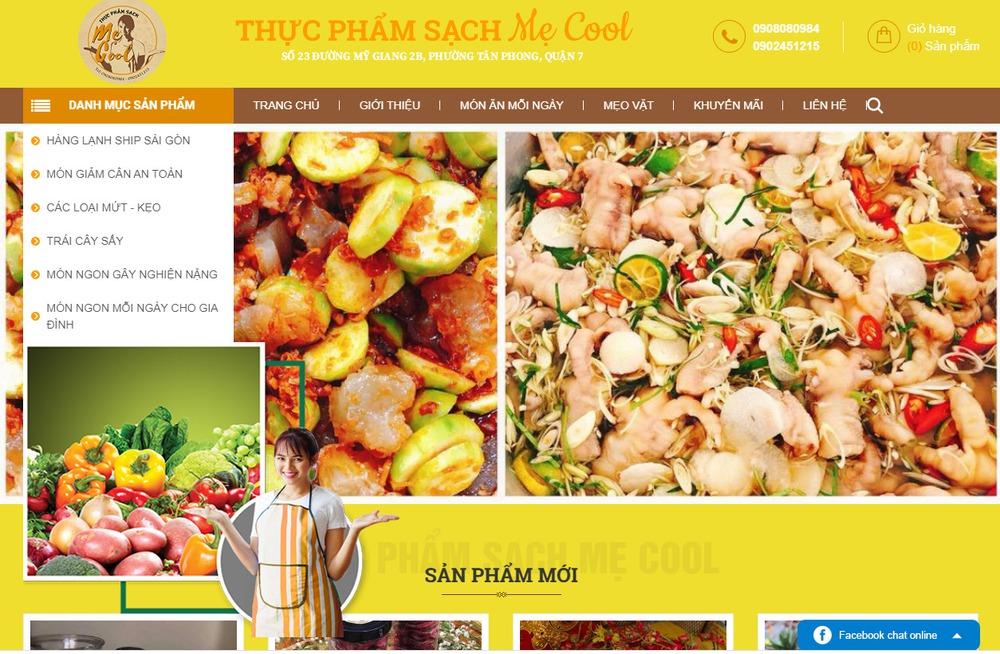 Các tính năng cần có của website thực phẩm sạch