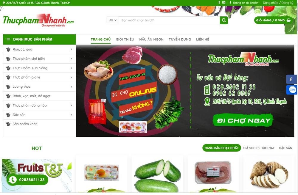 Một vài lưu ý khi thiết kế website thực phẩm, bán rau củ
