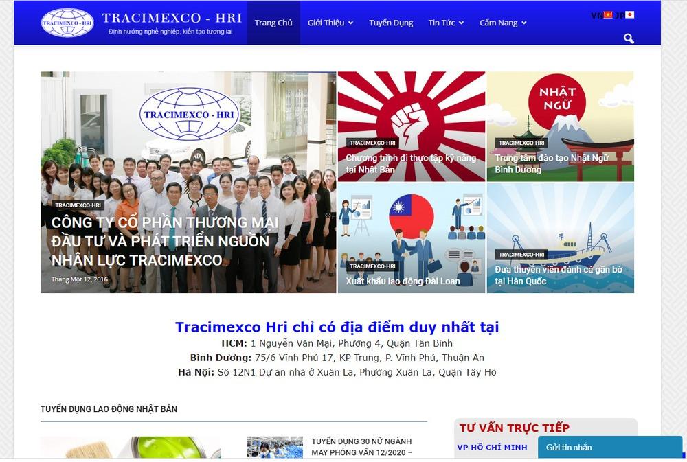 Các yêu cầu cơ bản khi thiết kế website xuất khẩu lao động