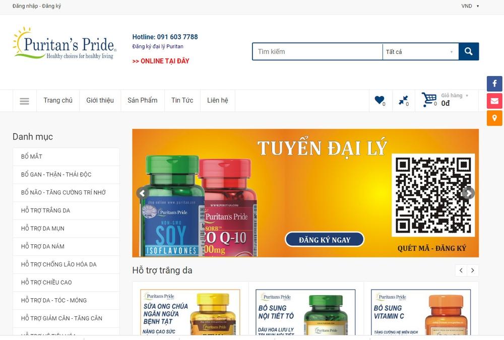 Một số mẫu thiết kế website thực phẩm chức năng