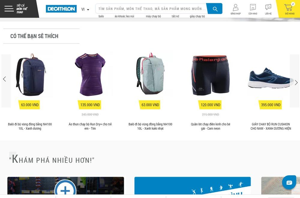 Lưu ý khi thiết kế website bán đồ thể thao