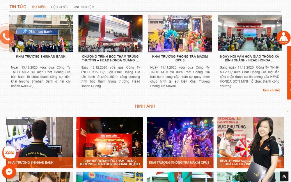 Lưu ý khi thiết kế website công ty truyền thông, sự kiện