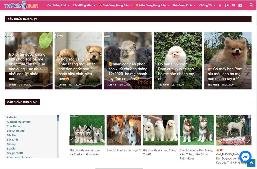 Vì sao các cửa hàng bán thú cưng nên thiết kế website?