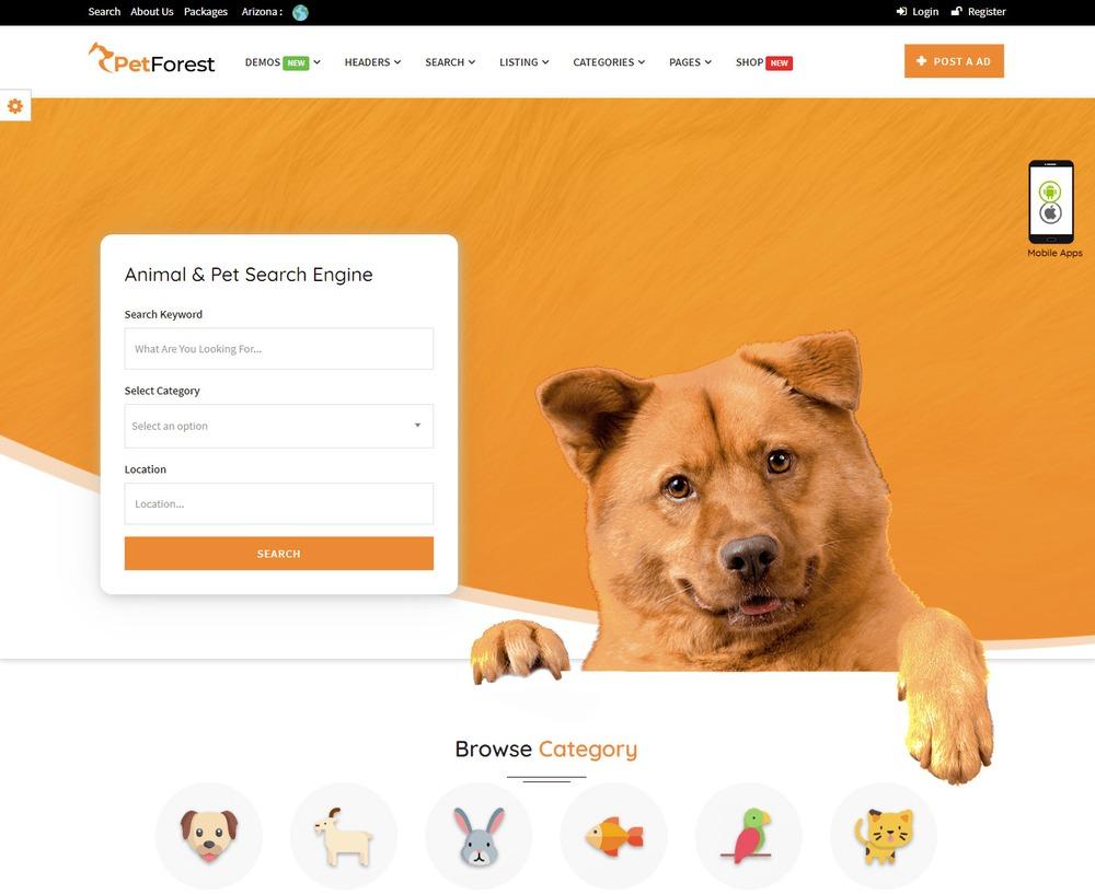 Thiết kế website thú cưng tại Bizfly Website