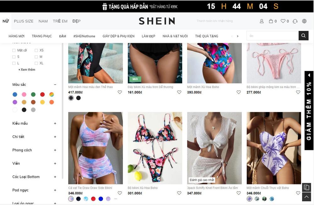 Tầm quan trọng khi thiết kế website bán áo tắm, bikini