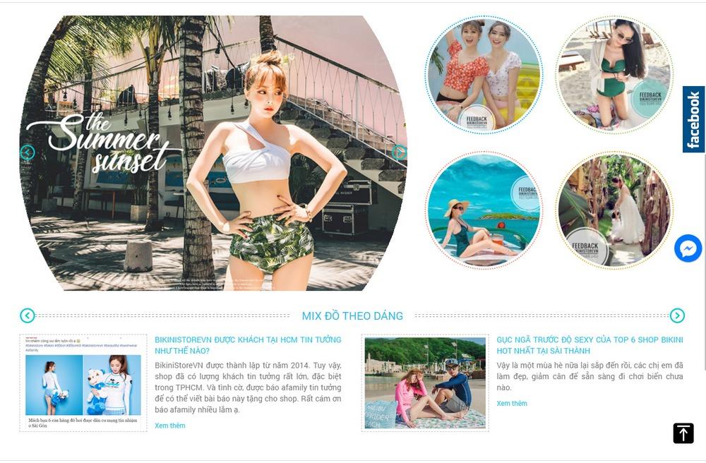 Thiết kế website bán áo tắm, bikini tại Bizfly Website