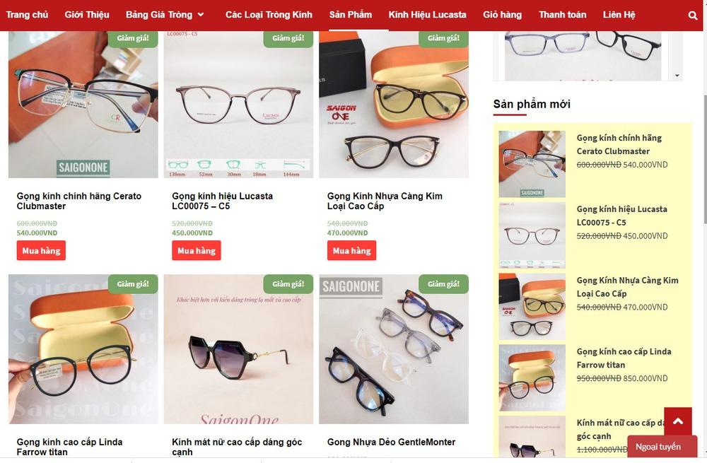 Ưu điểm khi thiết kế website bán mắt kính tại Bizfly Website