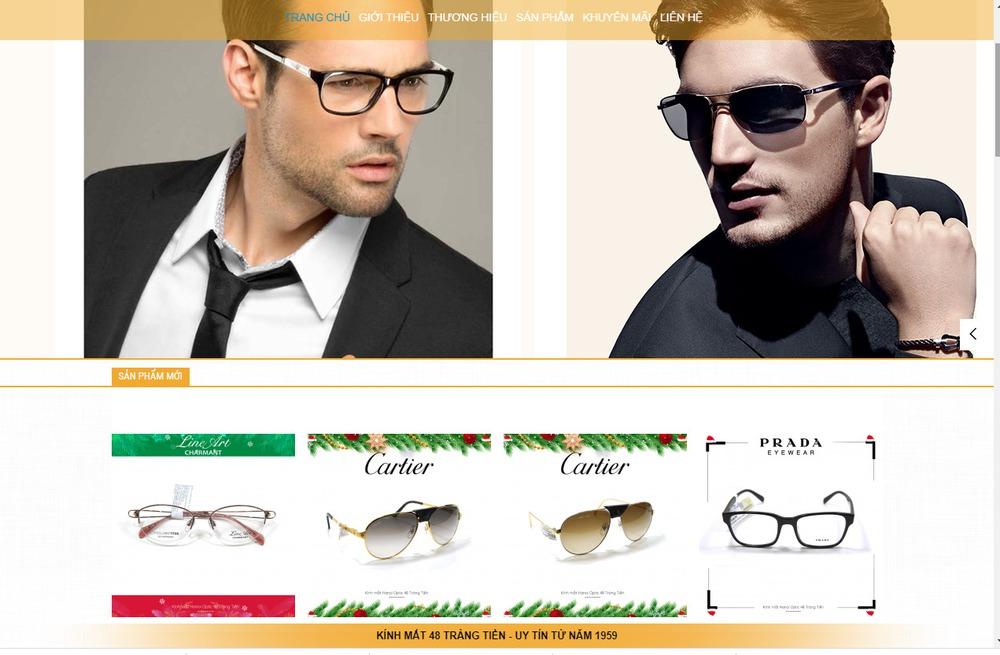 Một số mẫu thiết kế website bán mắt kính nổi bật