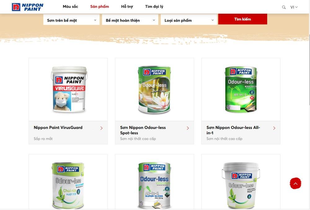 Các chức năng chính khi thiết kế website bán sơn