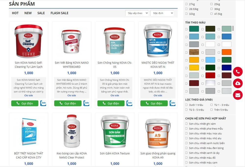 Như thế nào là một website bán sơn được thiết kế chuyên nghiệp?
