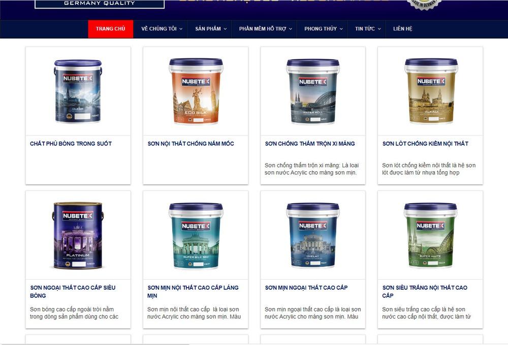Giới thiệu dịch vụ thiết kế website bán sơn chuyên nghiệp tại Bizfly
