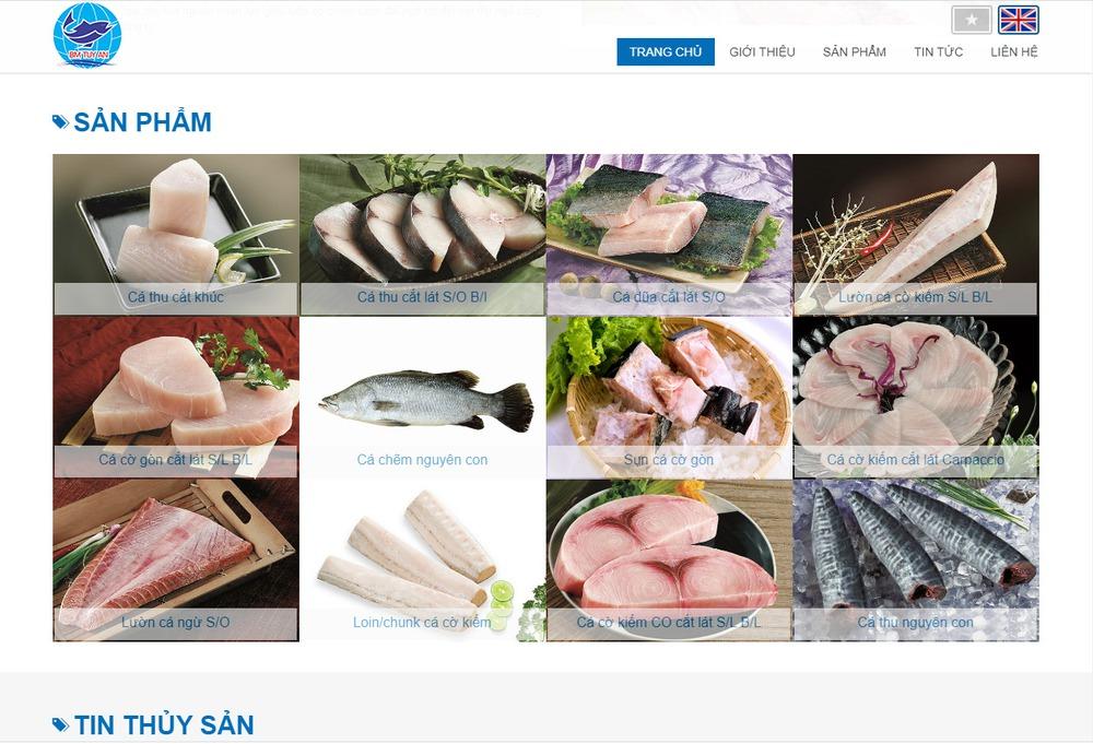 Các module cần thiết ở website thủy hải sản